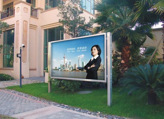 安装单立柱双面户外广告牌时要满足哪些要求呢?